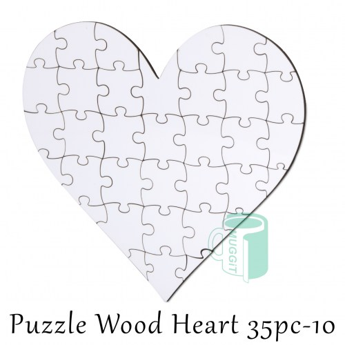 Puzzle Wood Heart 35pc-10